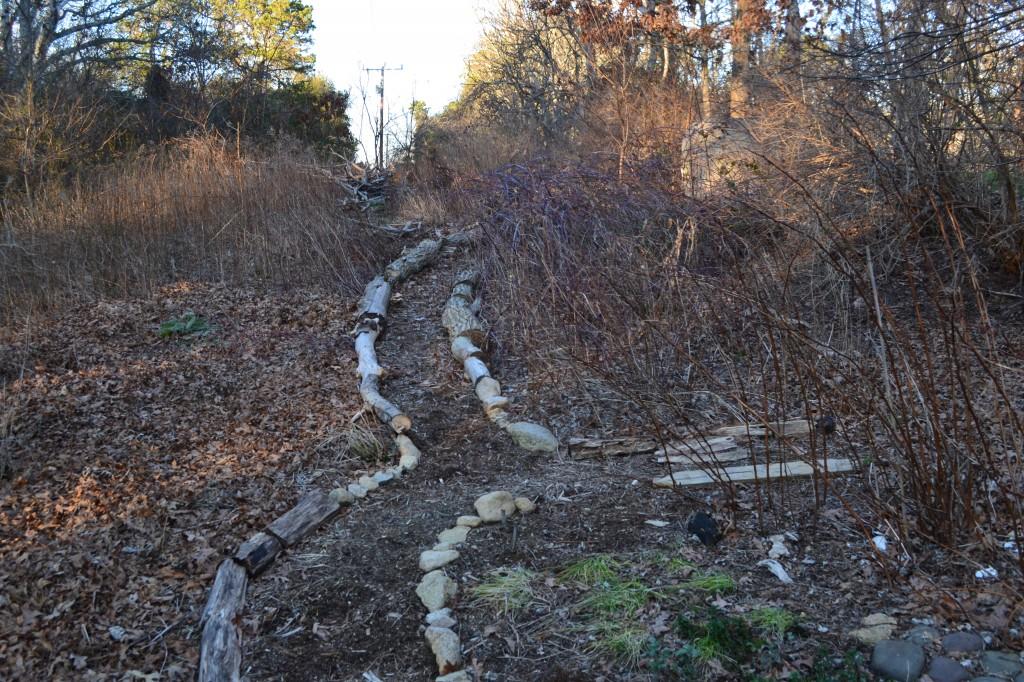 path facing north January 2012